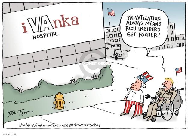 Cartoonist Joel Pett  Joel Pett's Editorial Cartoons 2018-03-30 medical