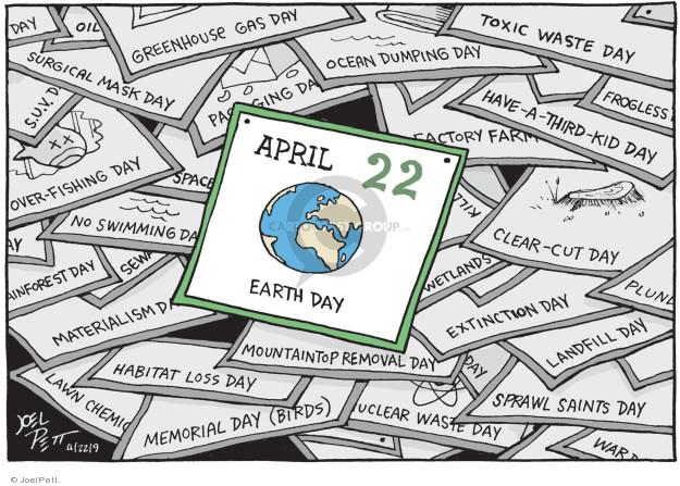 Cartoonist Joel Pett  Joel Pett's Editorial Cartoons 2009-04-22 earth day