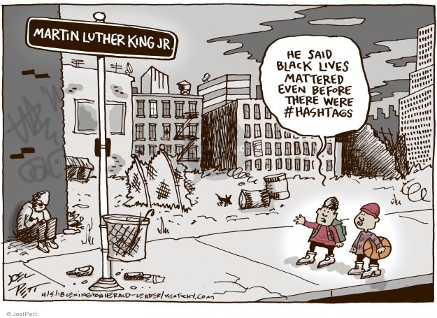 Cartoonist Joel Pett  Joel Pett's Editorial Cartoons 2018-04-05 history