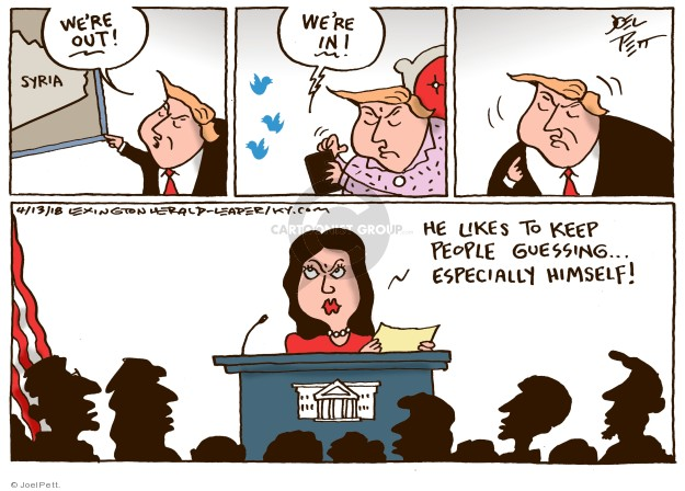 Joel Pett  Joel Pett's Editorial Cartoons 2018-04-13 United States Military