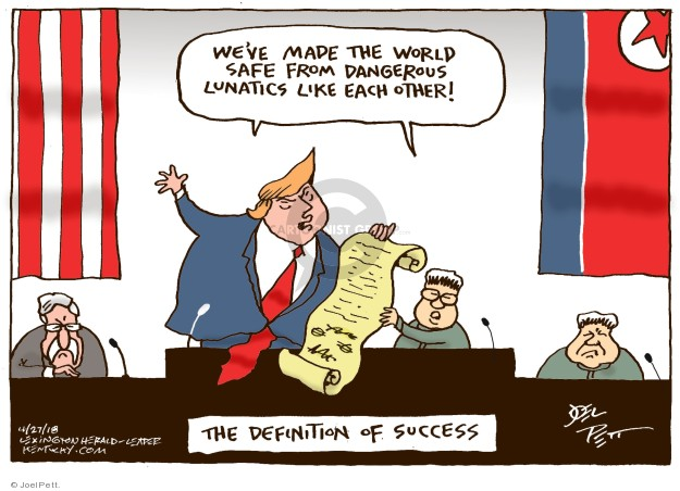 Cartoonist Joel Pett  Joel Pett's Editorial Cartoons 2018-04-29 North America