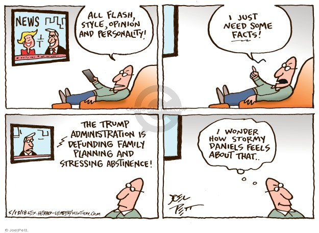 Cartoonist Joel Pett  Joel Pett's Editorial Cartoons 2018-05-13 family