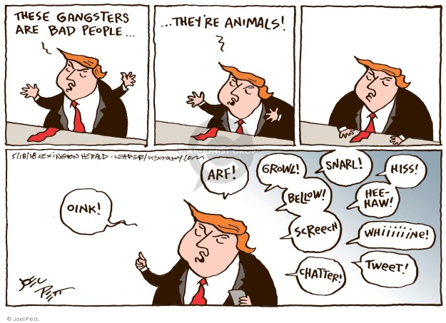 Cartoonist Joel Pett  Joel Pett's Editorial Cartoons 2018-05-18 post