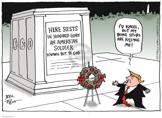 Cartoonist Joel Pett  Joel Pett's Editorial Cartoons 2018-05-27 dead