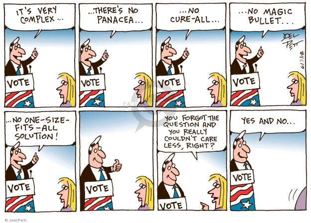 Cartoonist Joel Pett  Joel Pett's Editorial Cartoons 2018-06-03 candidate