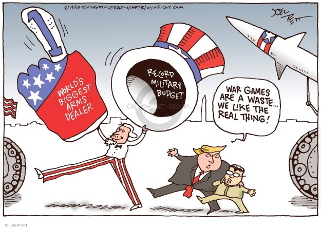 Cartoonist Joel Pett  Joel Pett's Editorial Cartoons 2018-06-15 North America