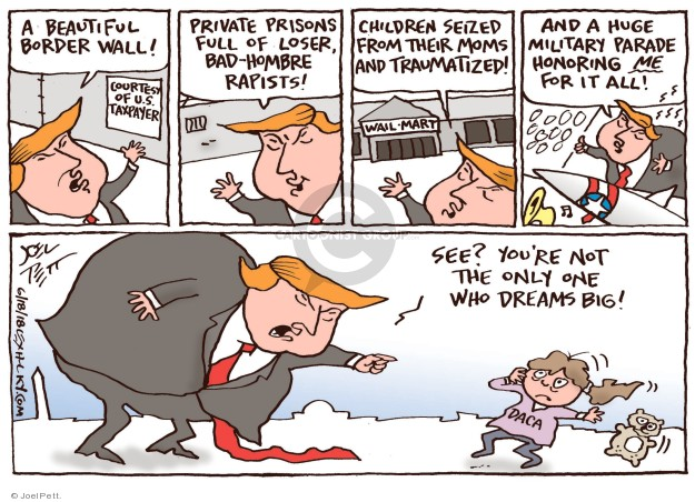 Cartoonist Joel Pett  Joel Pett's Editorial Cartoons 2018-06-18 family