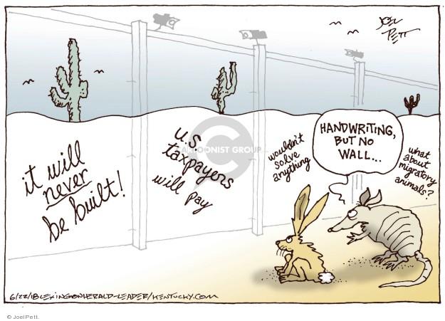 Cartoonist Joel Pett  Joel Pett's Editorial Cartoons 2018-06-22 wall