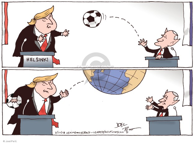 Joel Pett  Joel Pett's Editorial Cartoons 2018-07-17 Vladimir Putin