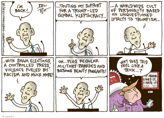 Joel Pett  Joel Pett's Editorial Cartoons 2018-08-01 Barack Obama