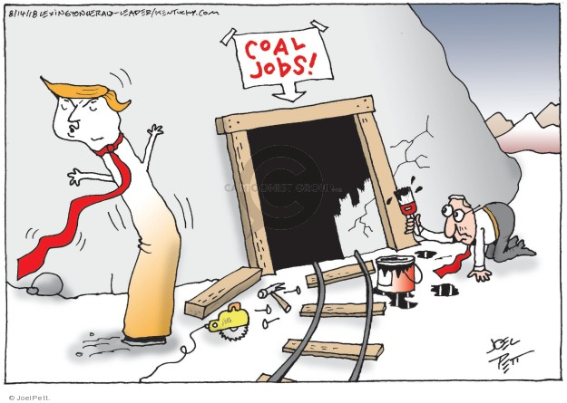Cartoonist Joel Pett  Joel Pett's Editorial Cartoons 2018-08-14 fuel