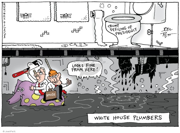 Cartoonist Joel Pett  Joel Pett's Editorial Cartoons 2018-08-23 White House