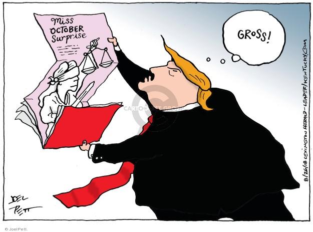 Cartoonist Joel Pett  Joel Pett's Editorial Cartoons 2018-08-26 justice