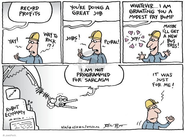 Joel Pett  Joel Pett's Editorial Cartoons 2018-09-02 compensation