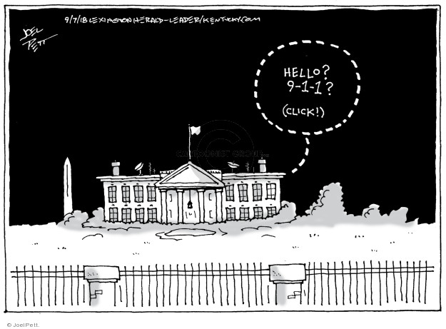 Joel Pett  Joel Pett's Editorial Cartoons 2018-09-07 media source