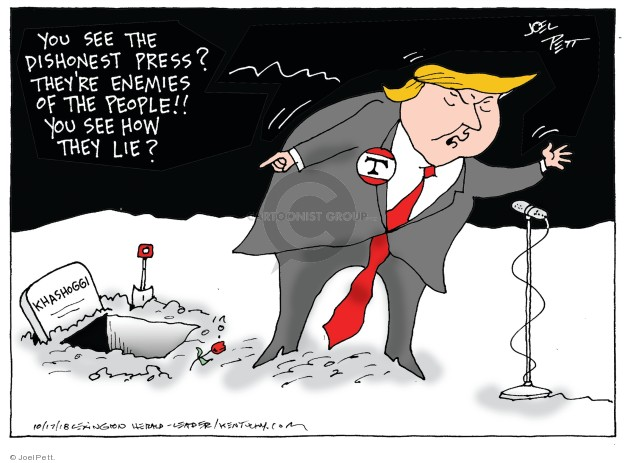 Cartoonist Joel Pett  Joel Pett's Editorial Cartoons 2018-10-17 international politics