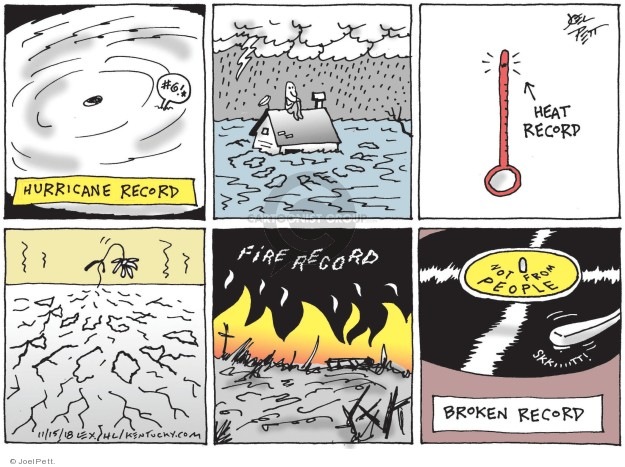 Cartoonist Joel Pett  Joel Pett's Editorial Cartoons 2018-11-15 natural