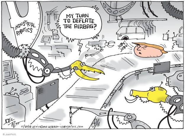 Cartoonist Joel Pett  Joel Pett's Editorial Cartoons 2018-11-29 robotics