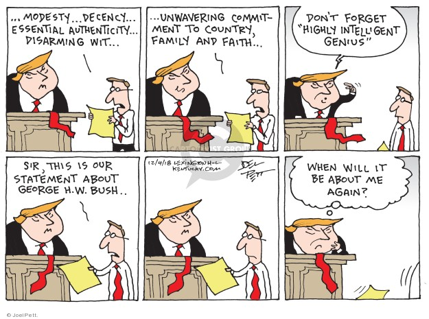 Cartoonist Joel Pett  Joel Pett's Editorial Cartoons 2018-12-04 family