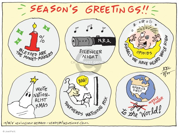 Cartoonist Joel Pett  Joel Pett's Editorial Cartoons 2018-12-05 middle