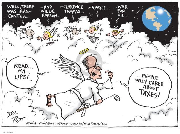 Cartoonist Joel Pett  Joel Pett's Editorial Cartoons 2018-12-06 bush