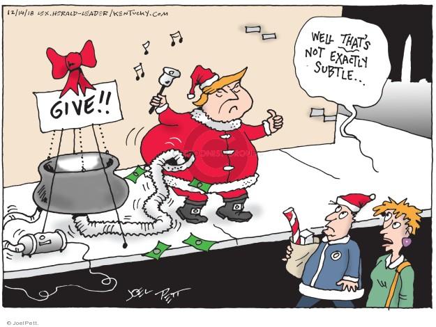Cartoonist Joel Pett  Joel Pett's Editorial Cartoons 2018-12-14 wall