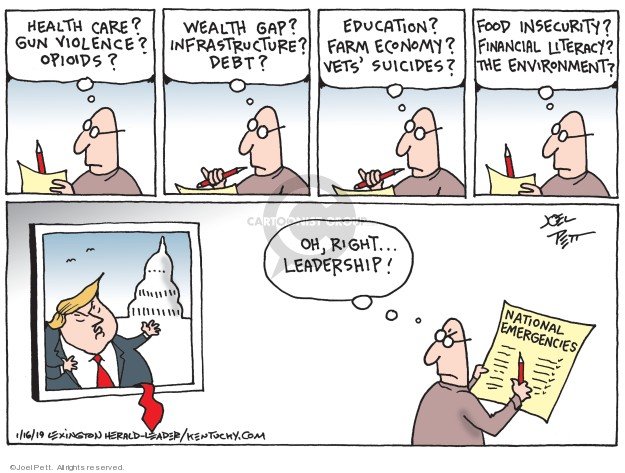 Joel Pett  Joel Pett's Editorial Cartoons 2019-01-16 change