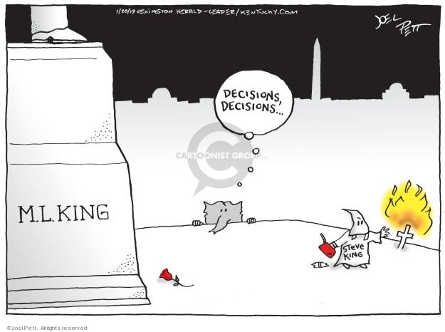 Cartoonist Joel Pett  Joel Pett's Editorial Cartoons 2019-01-20 choice