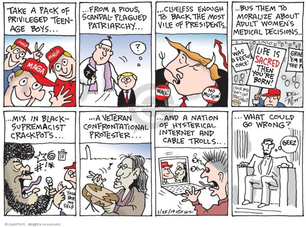 Joel Pett  Joel Pett's Editorial Cartoons 2019-01-25 scandal