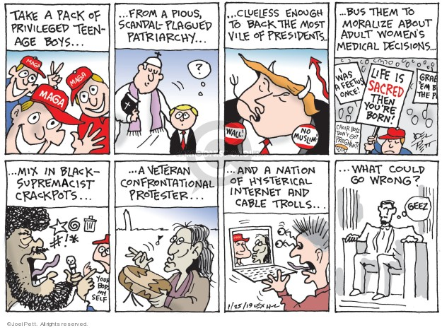 Cartoonist Joel Pett  Joel Pett's Editorial Cartoons 2019-01-25 scandal