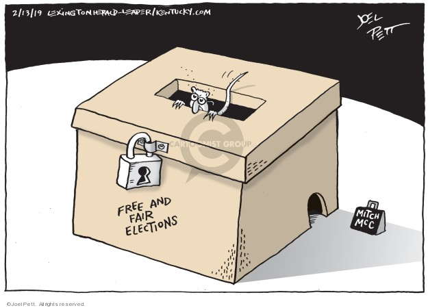 Joel Pett  Joel Pett's Editorial Cartoons 2019-02-13 democracy