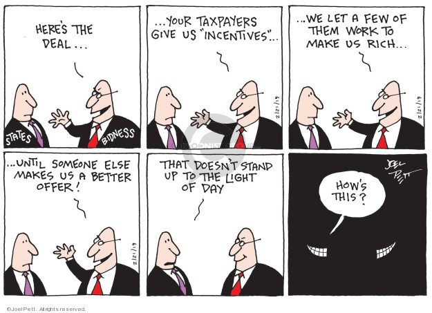 Cartoonist Joel Pett  Joel Pett's Editorial Cartoons 2019-02-21 business tax