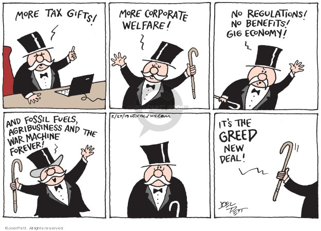 Cartoonist Joel Pett  Joel Pett's Editorial Cartoons 2019-02-27 business tax