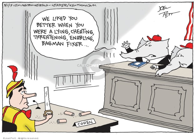 Cartoonist Joel Pett  Joel Pett's Editorial Cartoons 2019-03-01 investigation