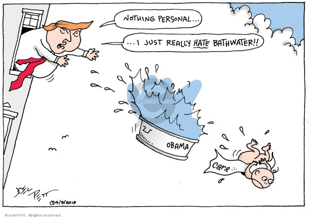 Joel Pett  Joel Pett's Editorial Cartoons 2019-04-03 Barack Obama