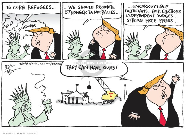 Joel Pett  Joel Pett's Editorial Cartoons 2019-04-10 presidential security
