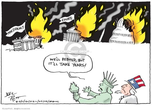 Cartoonist Joel Pett  Joel Pett's Editorial Cartoons 2019-04-17 justice