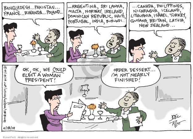 Joel Pett  Joel Pett's Editorial Cartoons 2019-04-18 woman