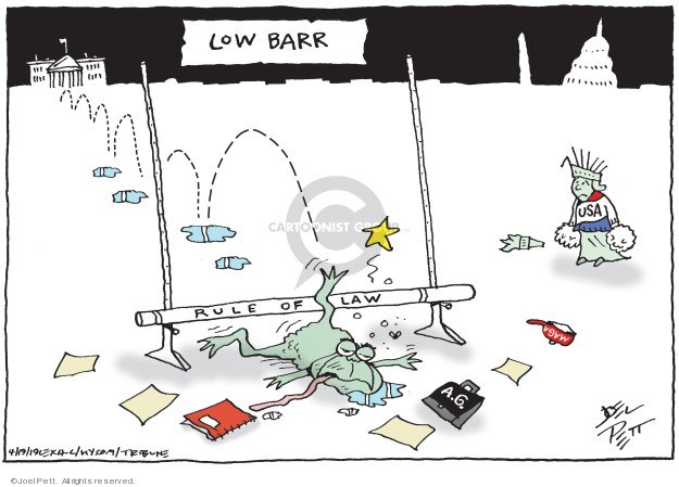 Joel Pett  Joel Pett's Editorial Cartoons 2019-04-19 rule of law