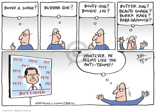 Cartoonist Joel Pett  Joel Pett's Editorial Cartoons 2019-04-24 candidate