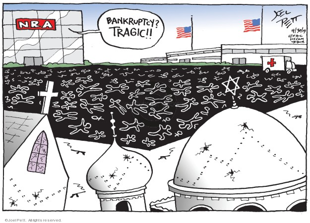 Cartoonist Joel Pett  Joel Pett's Editorial Cartoons 2019-04-30 NRA