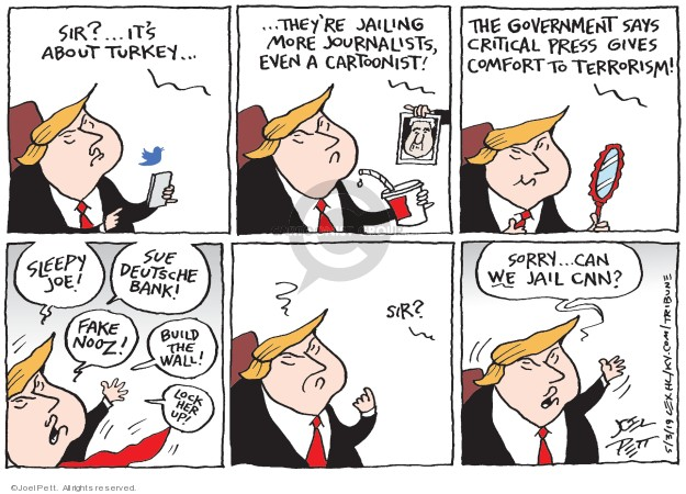 Cartoonist Joel Pett  Joel Pett's Editorial Cartoons 2019-05-03 fake news