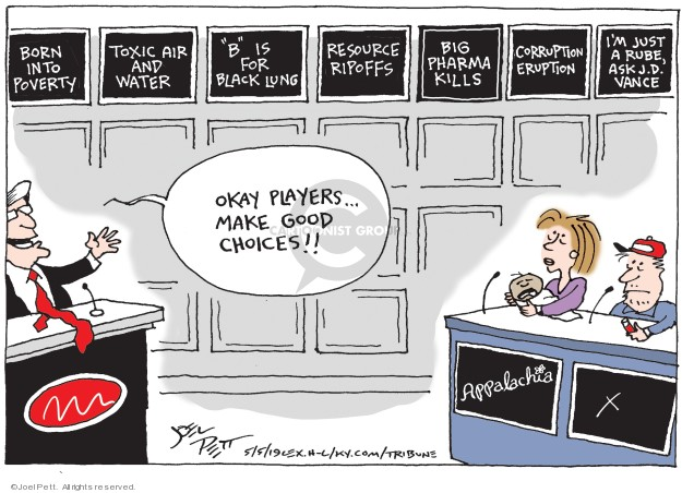 Cartoonist Joel Pett  Joel Pett's Editorial Cartoons 2019-05-05 poverty