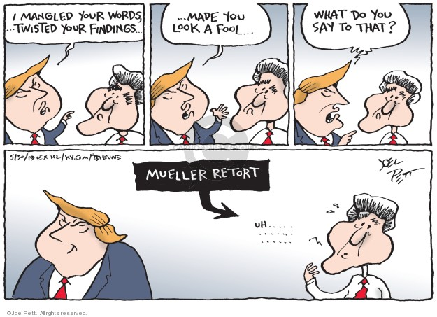 Cartoonist Joel Pett  Joel Pett's Editorial Cartoons 2019-05-30 investigation