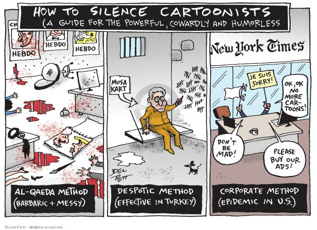 Joel Pett  Joel Pett's Editorial Cartoons 2019-06-13 press freedom