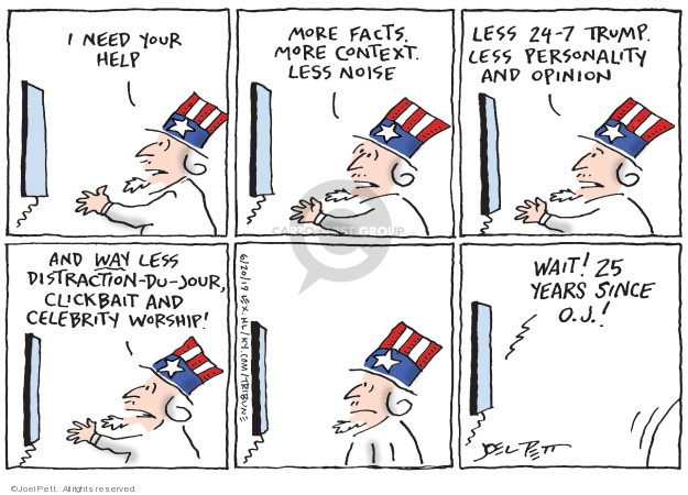 Joel Pett  Joel Pett's Editorial Cartoons 2019-06-20 media distraction