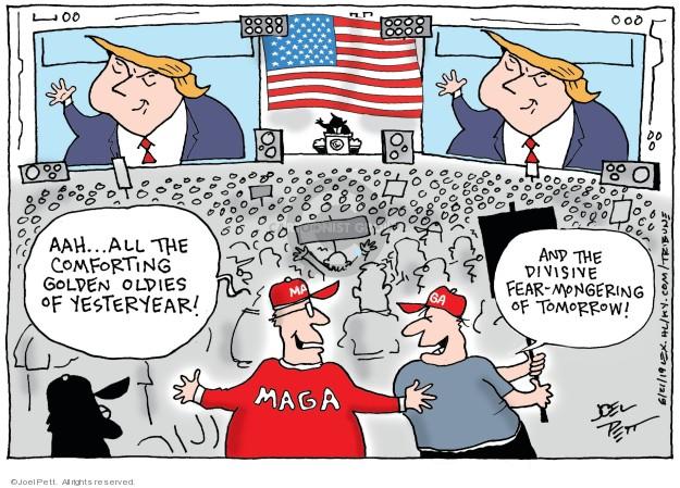Cartoonist Joel Pett  Joel Pett's Editorial Cartoons 2019-06-21 2020 election Donald Trump