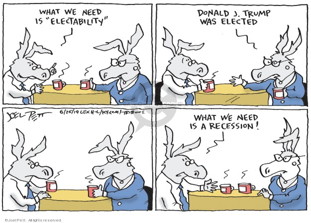 Cartoonist Joel Pett  Joel Pett's Editorial Cartoons 2019-06-25 democrat