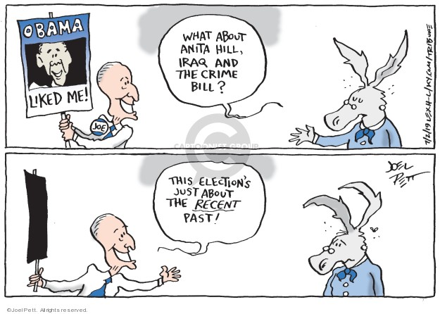 Joel Pett  Joel Pett's Editorial Cartoons 2019-07-02 Obama Biden