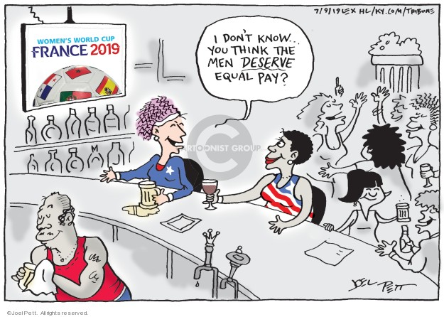 Cartoonist Joel Pett  Joel Pett's Editorial Cartoons 2019-07-09 equality